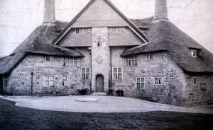 the barn when it was built in 1897 under thatch