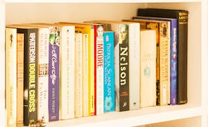 Well stocked bookshelves - something for everyone here