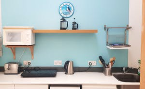 Kitchenette with new slimline dishwasher