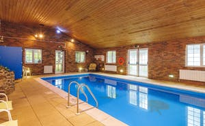 Heated indoor swimming pool.