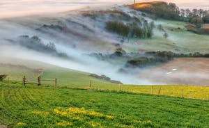 St Catherine's Down sea mist, Isle of Wight