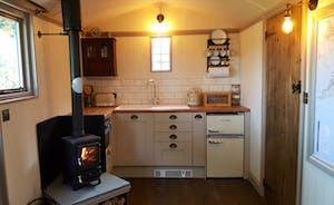 Shepherd's Hut kitchen