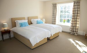 Berry House - Bedroom 3; a spacious first floor room which shares a large family bathroom