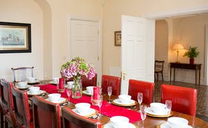 The Old Rectory - A lovely big dining table - great for gathering round for breakfast or dinner
