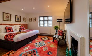 Hesdin Hall - Ethnic touches add character to Bedroom 3