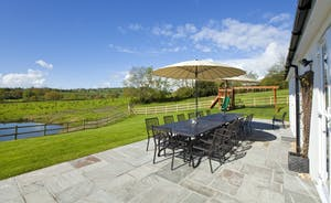 Holemoor Stables - Uninterrupted views of the glorious Somerset countryside - right from the patio