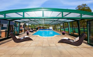 Wayside: The covered and heated pool can be used all year round