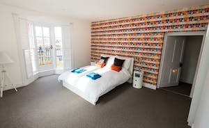 Pitmaston House - Stylish and funky, Bedroom 4 is on the second floor and has a kingsize bed and an en suite shower room