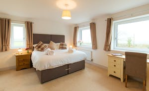 Orchard View - Bedroom 1: With glorious country views and a fabulous en suite bathroom