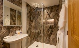 Kingshay Barton - Bedroom 2 (Downclose) has a snazzy en suite shower room