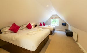 Cockercombe: Bedroom 4 is crisp and fresh; a great family room