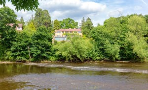 The Benches - The setting is a dream, right on the banks of the River Wye