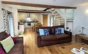 Pipits Retreat, Stonehayes Farm: A spacious open plan living space on the ground floor
