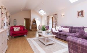 Foxhill Lodge - The living room is on the first floor, to take advantage of those amazing views