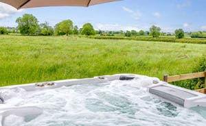 Luxury Hot Tub with amazing views of the countryside