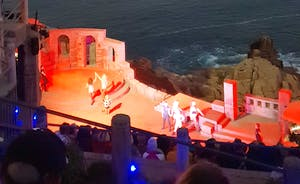 The world famous Minack theatre at Portncurno 5 miles along the coast from Lamorna View Walk there take a show Taxi Back perfect day!