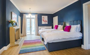 Sandfield House - Bedroom 6 is a ground floor room with its own shower room