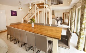 Crowcombe - A big dining table to seat 14 - perfect for happy celebratory feasts