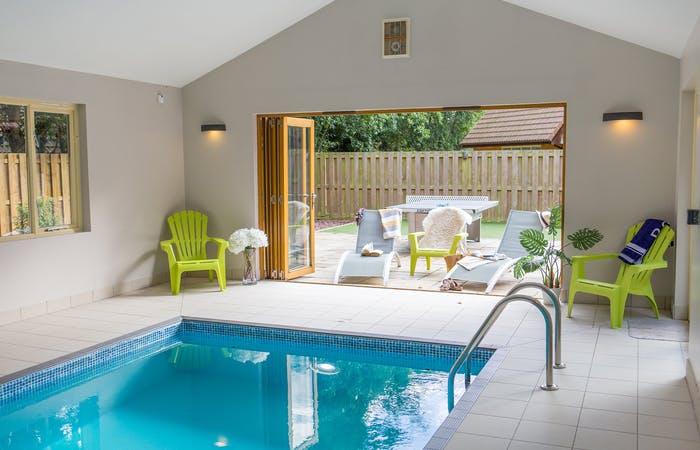 2 luxury lodges at the foot of the Quantock Hills sleeping 28 guests in 12 en suite bedrooms with 2 indoor pools