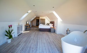 The Granary - Bedroom 8 is a very spacious room, with a free standing bath and an en suite shower room