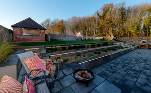 Hesdin Hall - At the back of the house is the walled garden with a sunny terrace, pool, hot tub and sauna
