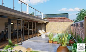 Pigertons - The walled garden has a year round heated pool, a roof terrace and outdoor cinema