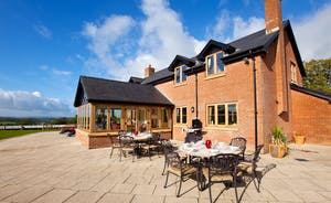 Wayside: Enjoy alfresco dining on the terrace
