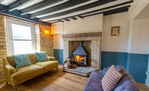 The Plough - Velvet sofas by the wood-burner - seriously tempting!