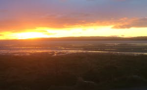 sunset at Ettrick Bay