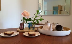 Enjoy relaxed teas around the lovely mid-century style table