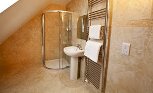Crowcombe -  The en suite shower room for Bedroom 4 is chic and modern