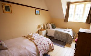 Bossington Hall - Gate Cottage has 3 bedrooms (one twin, two superking)