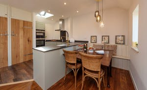 Whimbrels Barton - Snipes Rest: A cosy dining area in the upstairs living space