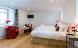 Pound Farm - Bedroom 7: A bright and spacious room on the first floor of a converted barn in the courtyard