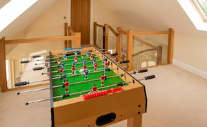 Foxcombe - Table football on the mezzanine