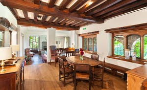 Bossington Hall - The Breakfast Room and Main Hall - a lovely sunlit spot for morning coffee