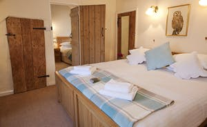 Halse Water House - Bedroom 2  has an access door to Bedroom 1 if required - a great arrangement for families with young children