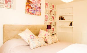 Bedroom 1 - fun patterns & quirky wall art