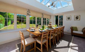 Garden Court - The dining area overlooks the 2 acre grounds