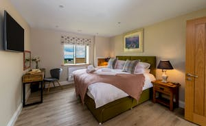 Croftview - Bedroom 2 (Otter) is on the first floor and has an en suite shower room