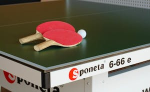 The Cottage Beyond: Rain? Pah, who cares! Play ping-pong in the covered games area