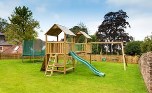 The Old Rectory - A trampoline, swings, a slide, heaps of room to let off steam..... happy children!