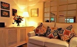 Coachmans Cottage, Steeple Ashton, Wiltshire, BA14 6HH. Comfortable sofas, WiFi, Freview TV, DVD player