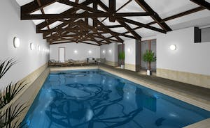 Pound Farm - A private indoor heated pool with original rustic roof beams - this is a computer generated image