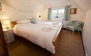 Halse Water House - Bedroom 5 is a twin room which shares the ground floor shower room.