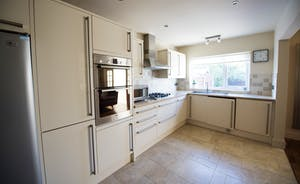 Large kitchen area perfect Chester accommodation for large groups