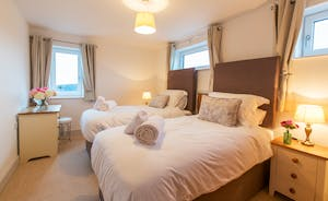 Orchard View - Bedroom 4: Calm neutral tones throughout for a restful nights' sleep