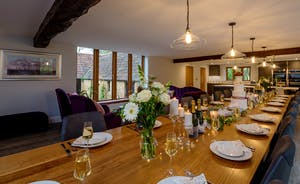 Kingshay Barton - A long dining table seats you all when it's time for feasting