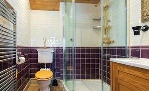Dancing Hill  - Bedroom 1 en suite: fully tiles, a rainfall shower - luxury!