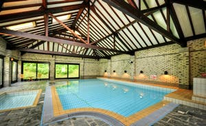 Shared indoor heated swimming pool, hot tub and toddler pool